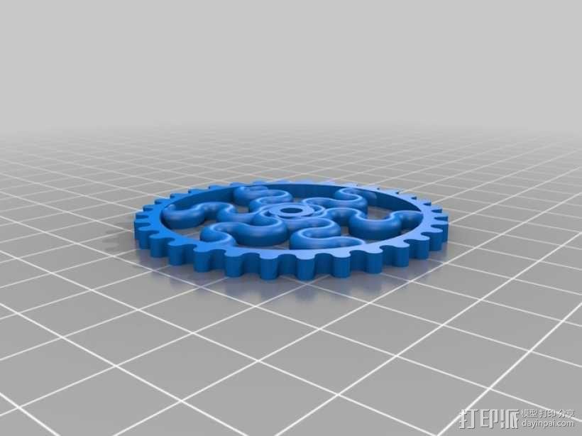 装饰性齿轮 3D模型  图20