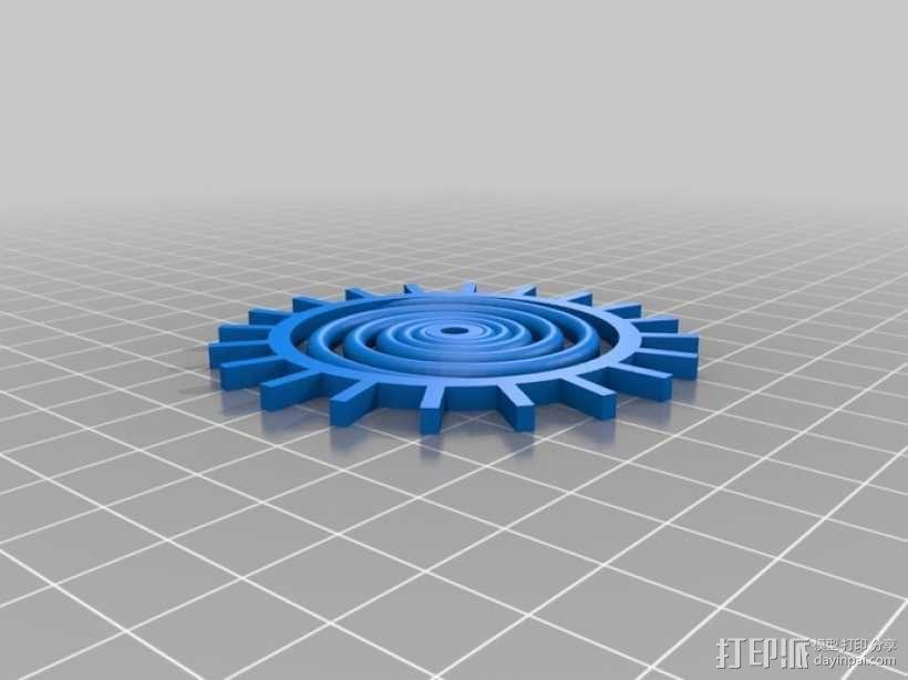 装饰性齿轮 3D模型  图23