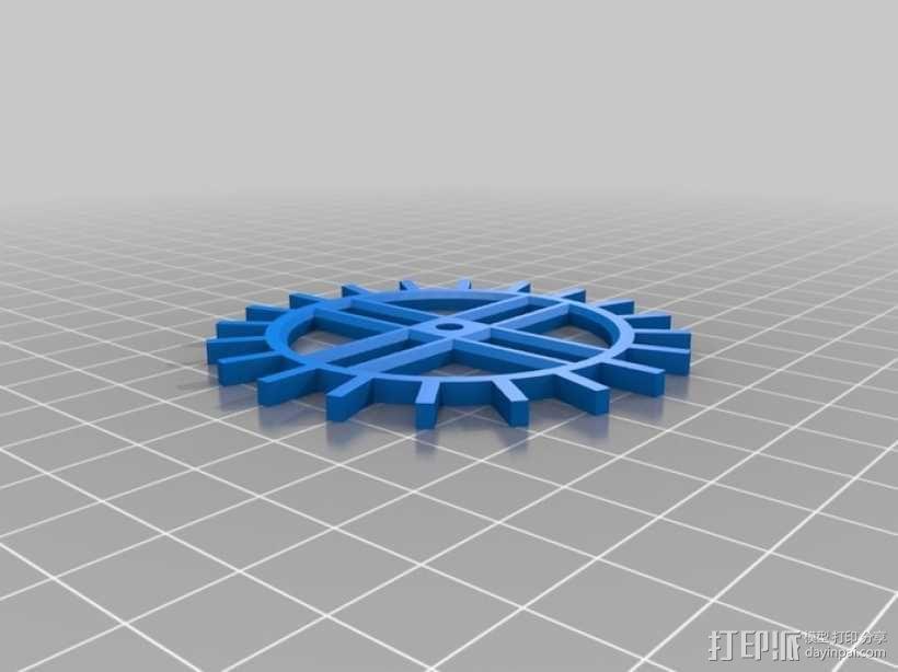 装饰性齿轮 3D模型  图22