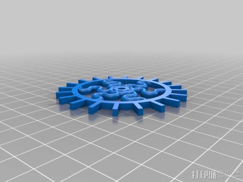 装饰性齿轮 3D模型  图24