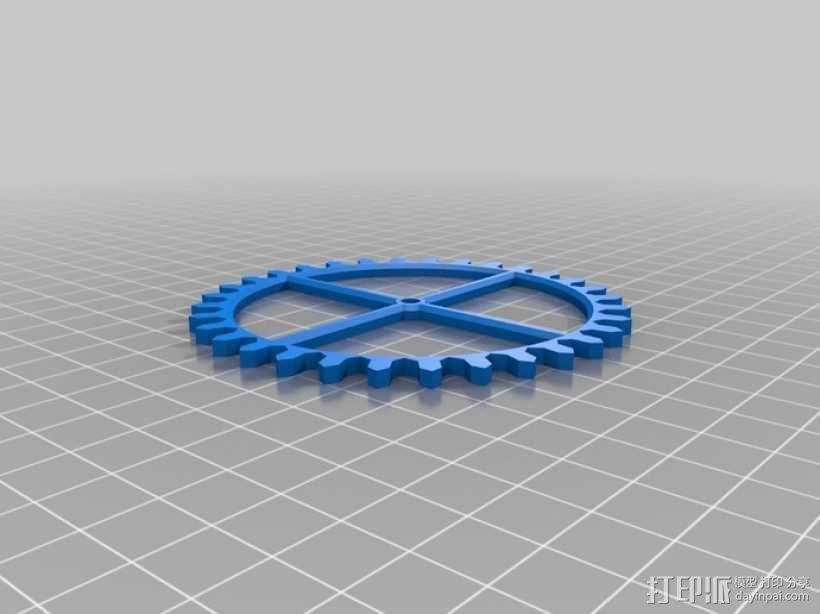 装饰性齿轮 3D模型  图28