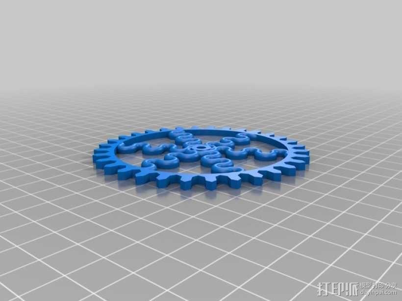 装饰性齿轮 3D模型  图29