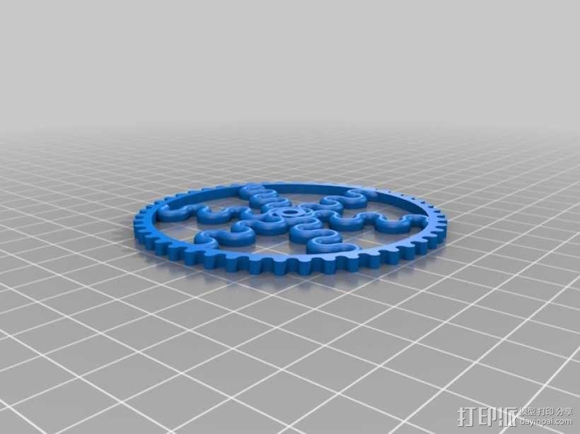 装饰性齿轮 3D模型  图33