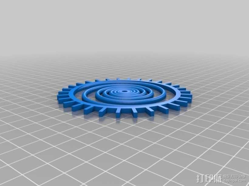 装饰性齿轮 3D模型  图35