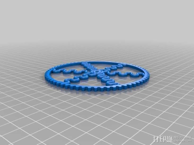 装饰性齿轮 3D模型  图45