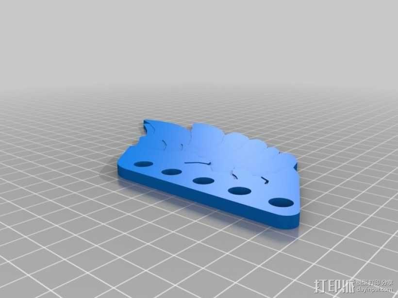 翅膀 饰品 3D模型  图3