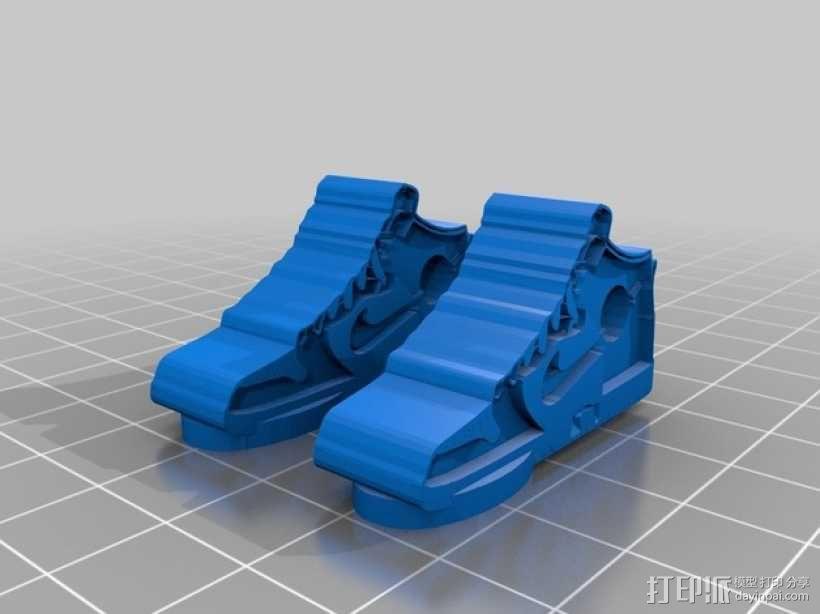 高帮鞋吊坠 3D模型  图1