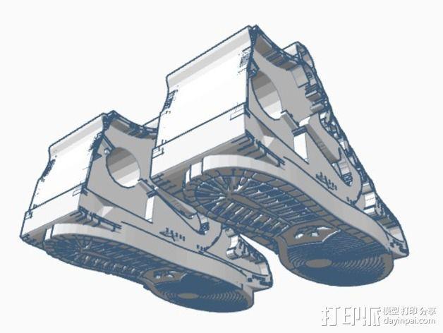 高帮鞋吊坠 3D模型  图2