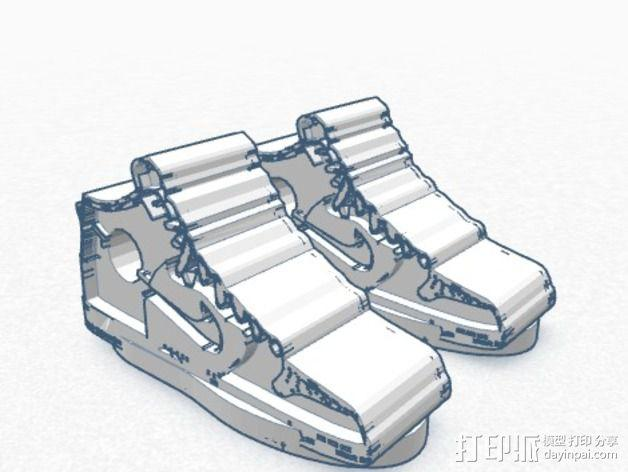 高帮鞋吊坠 3D模型  图3