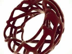 泰森多边形 手镯 3D模型