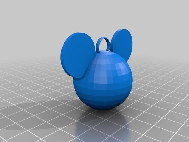 米老鼠坠饰 3D模型  图1