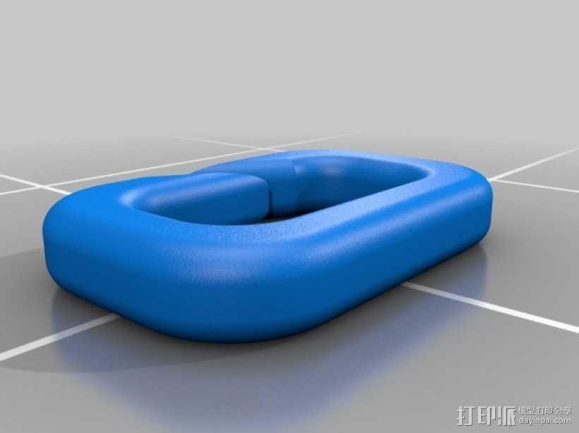 锁扣 3D模型  图2