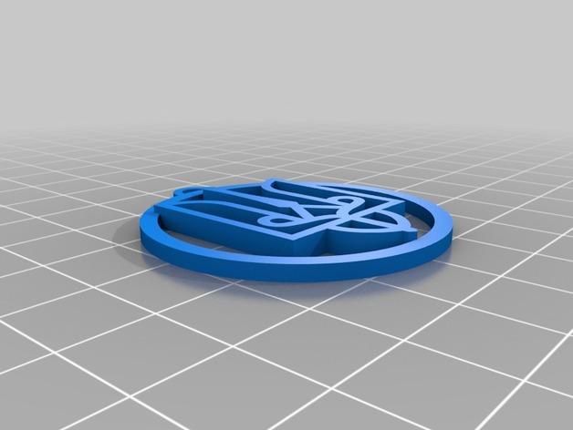 三叉戟吊坠 3D模型  图2
