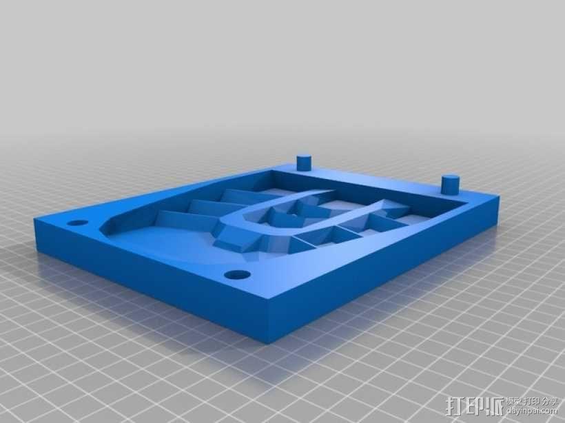 钢铁侠鞋子模具 3D模型  图1