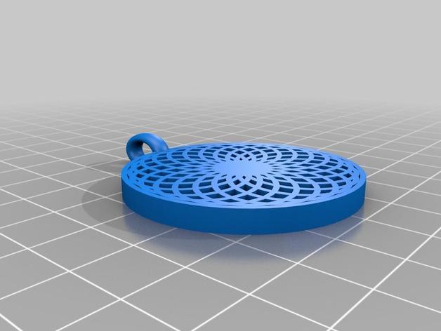 花形坠饰 3D模型  图1