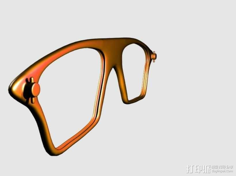 眼镜镜框 3D模型  图1