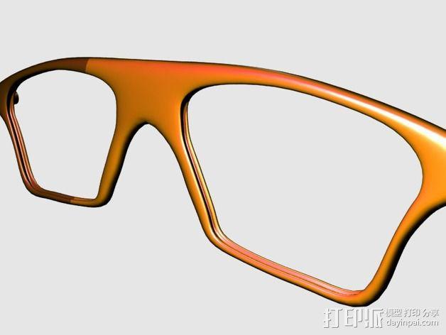 眼镜镜框 3D模型  图3