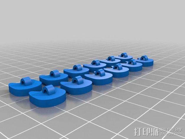 猫咪纽扣 3D模型  图3