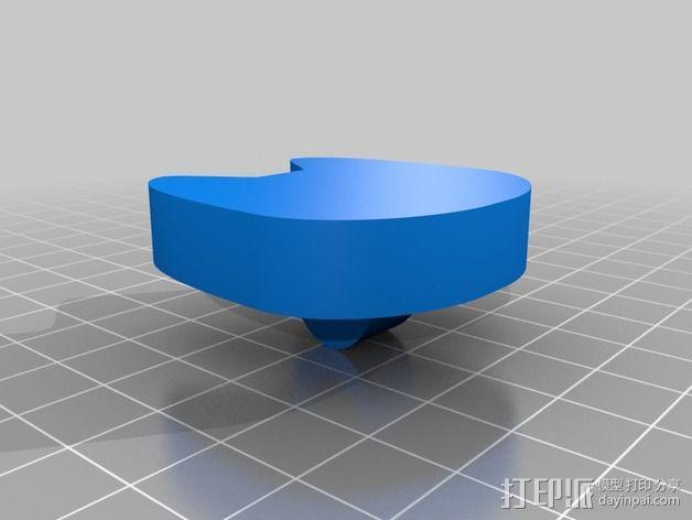 猫咪纽扣 3D模型  图2