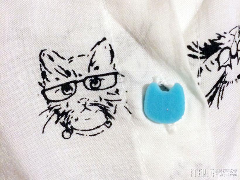 猫咪纽扣 3D模型  图5