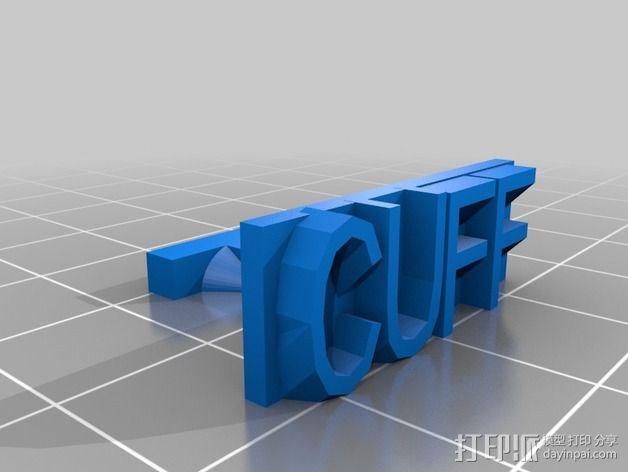 袖扣 3D模型  图2