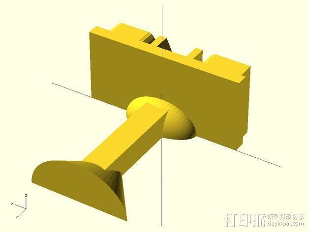 袖扣 3D模型  图6
