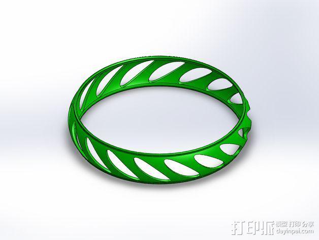 椭圆形手镯 3D模型  图1