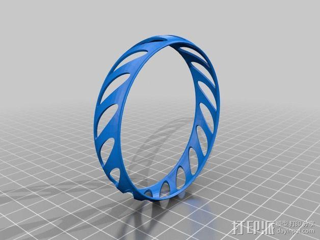 椭圆形手镯 3D模型  图2
