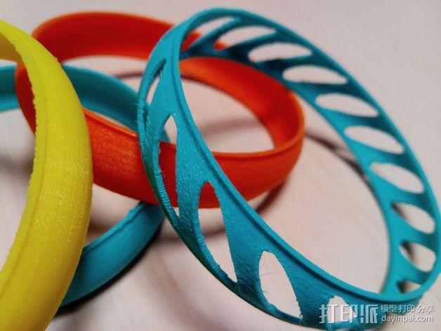 椭圆形手镯 3D模型  图3