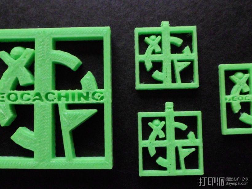 Geocaching地理藏宝  吊坠 3D模型  图1