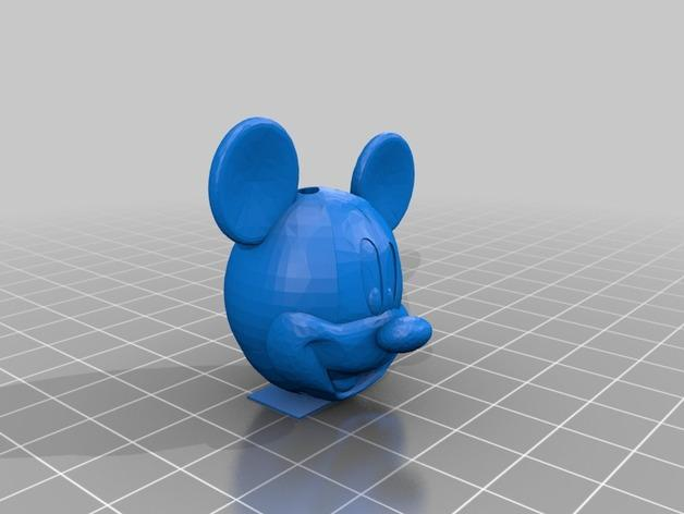 米奇项链 3D模型  图2