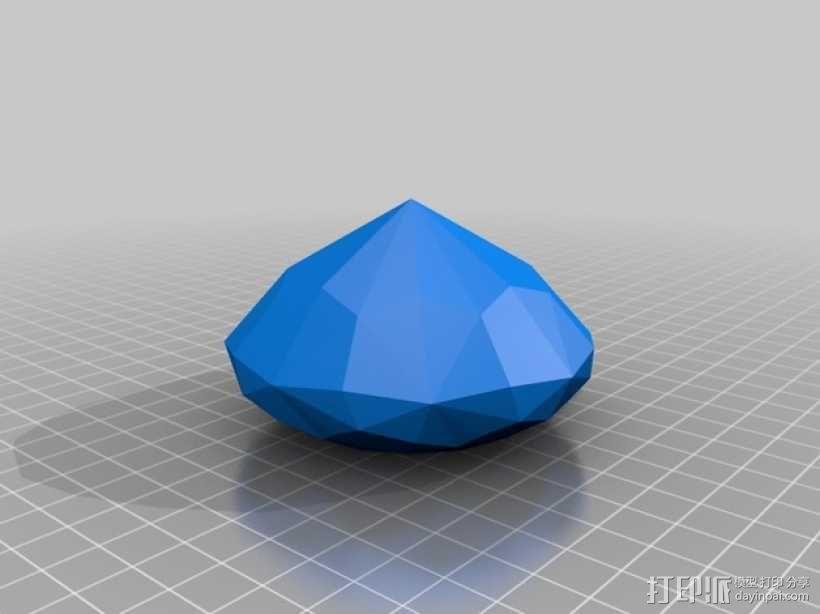 多面钻石 3D模型  图2