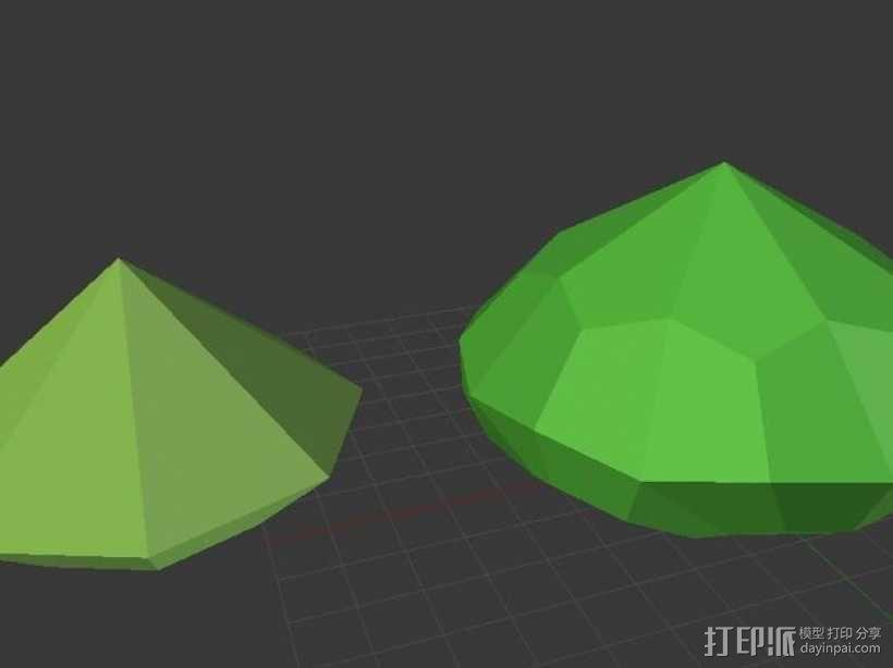 多面钻石 3D模型  图1