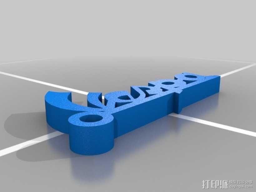 Vespa钥匙坠 3D模型  图2