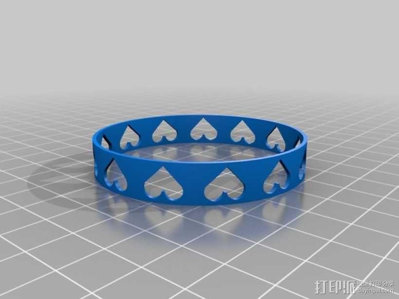 心形手镯 3D模型  图3