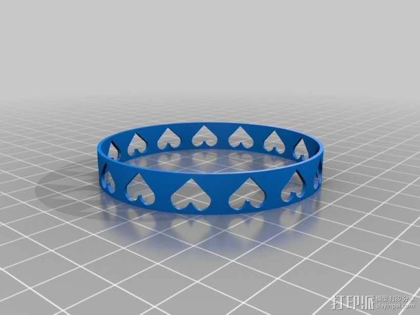 心形手镯 3D模型  图4