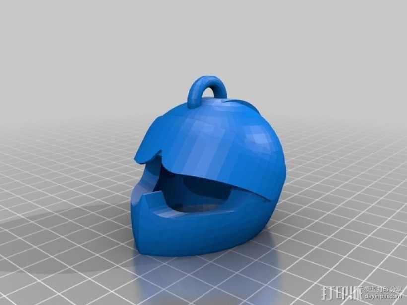 安全帽吊坠 3D模型  图1