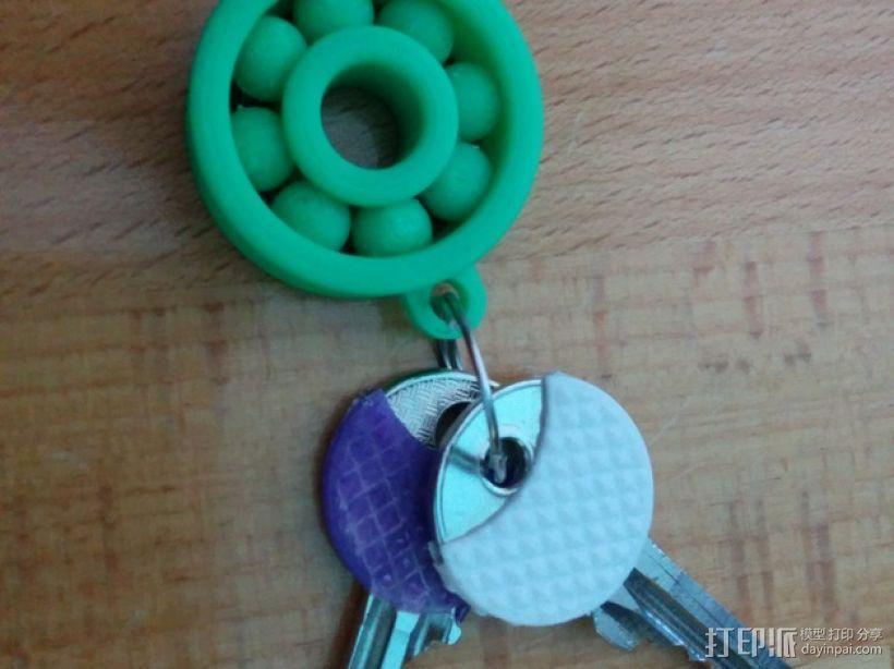 小轴承钥匙坠 3D模型  图1