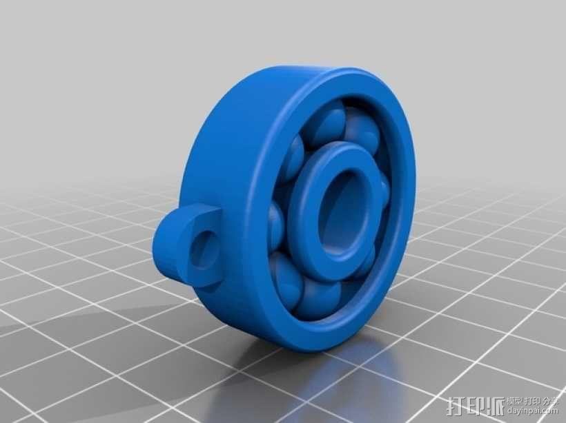 小轴承钥匙坠 3D模型  图2