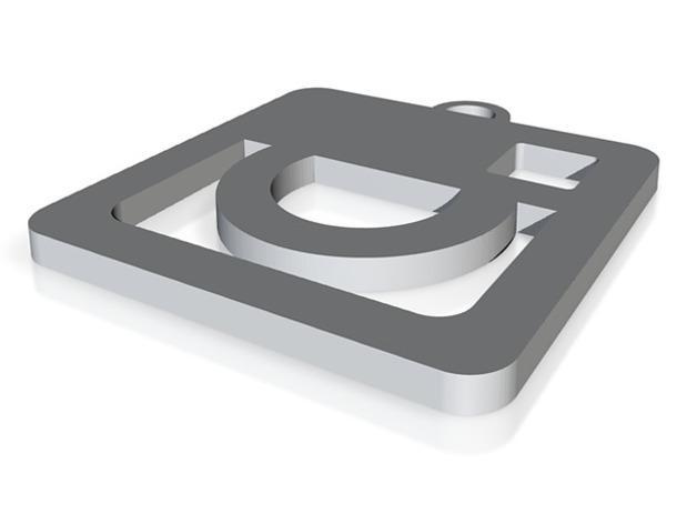 Facebook 徽标钥匙坠 3D模型  图4