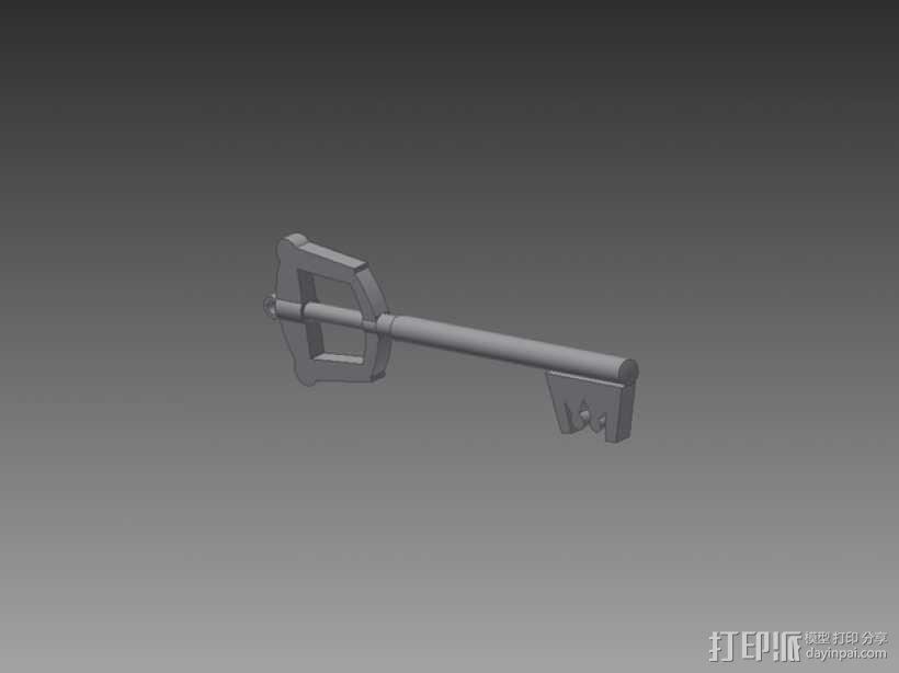 钥匙刃 键刃 3D模型  图1