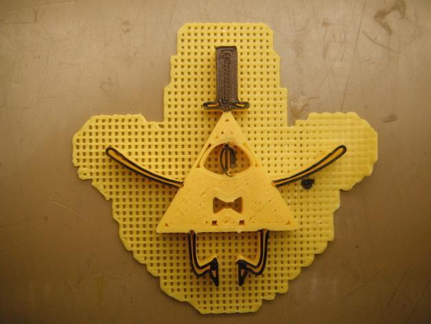 Bill Cipher吊坠 3D模型  图3