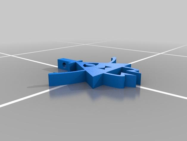 Bill Cipher吊坠 3D模型  图2