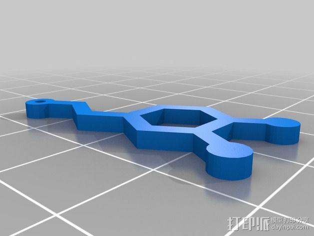 分子结构 耳环 3D模型  图3