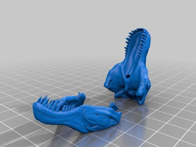 恐龙头项链吊坠 3D模型  图2