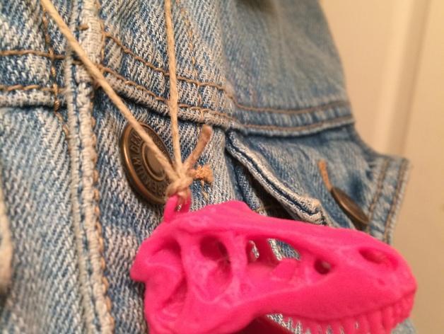 恐龙头项链吊坠 3D模型  图5