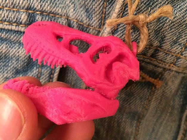 恐龙头项链吊坠 3D模型  图7