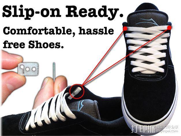 鞋带固定器 3D模型  图3