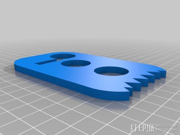 鞋带固定器 3D模型  图2