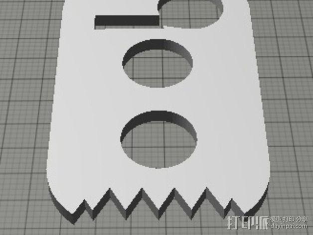 鞋带固定器 3D模型  图5